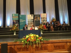 The stage is set ready for Apprentices to start receiving their awards. Photo thanks to NCFE