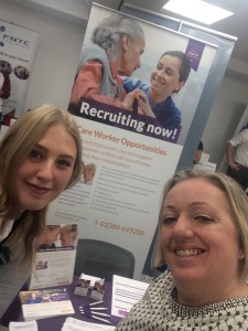 Carewatch's stand at the Jobs Fair (Photo by Carewatch)