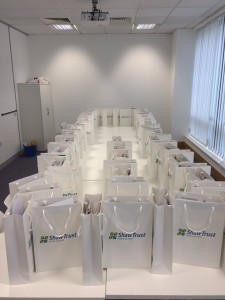 Employer Welcome Packs all set up and ready to be given out
