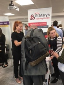 Busy at St. Mary's Training's stall. Photo from St. Mary's Training