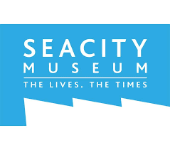 SeaCity Museum Logo Blue The Lives. The Times